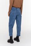 брюки джинсовые с ремнем женские