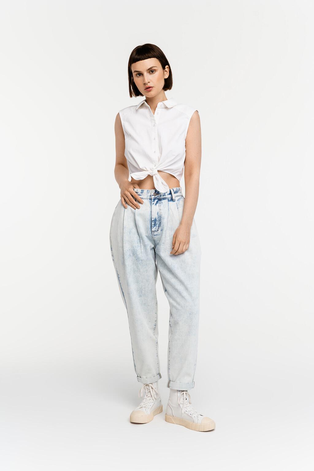 блузка джинсовая