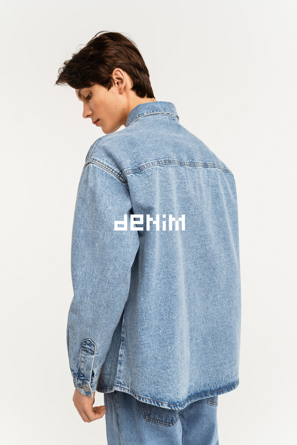 верхняя сорочка джинсовая мужская