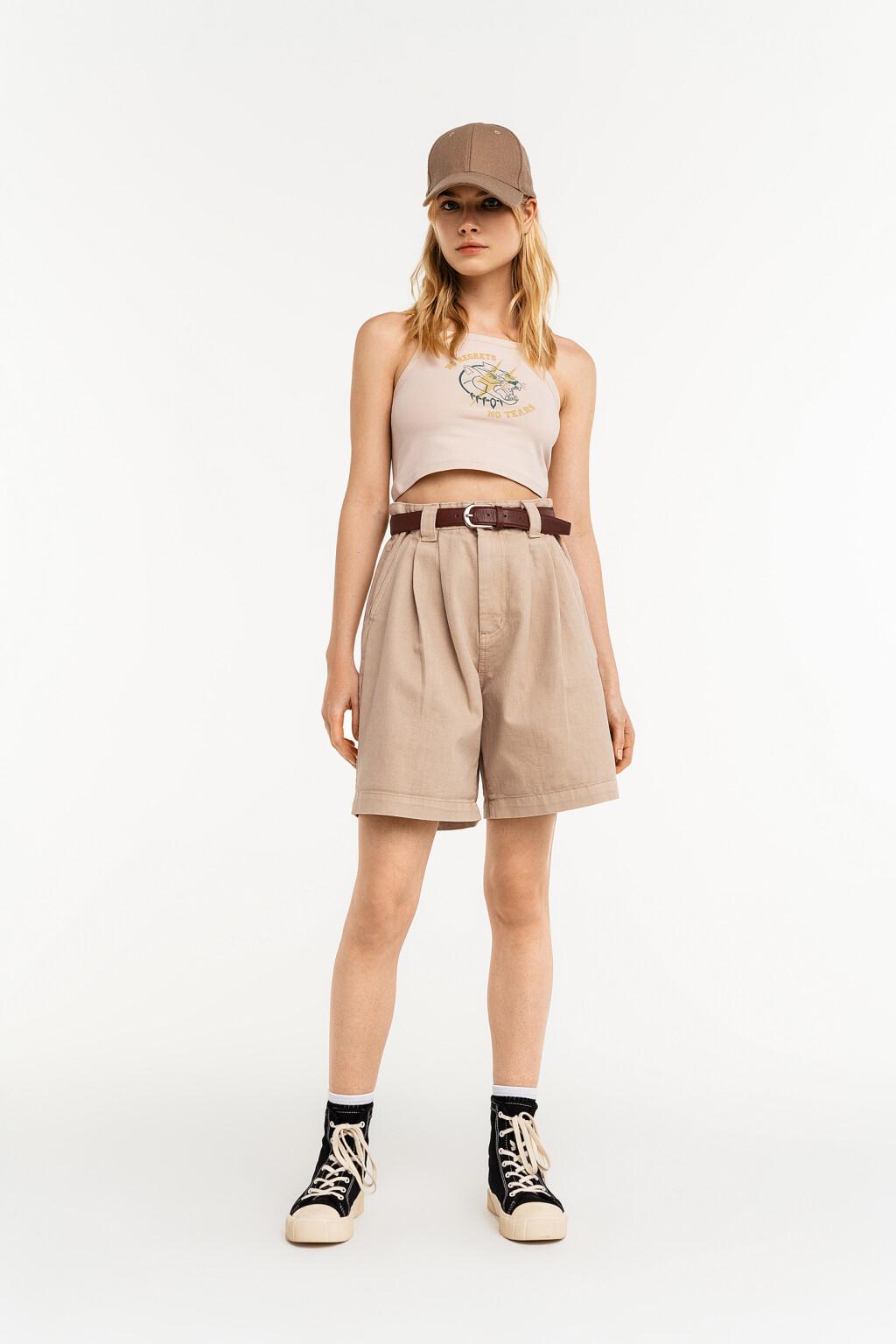 шорты джинсовые с ремнем женские