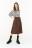 юбка миди на пуговицах с тканевым ремнем