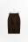 юбка-карандаш замшевая с эластичным поясом