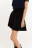 юбка клеш из искусственной замши с эластичным поясом