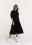 платье макси ярусное с рукавами-фонариками