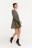 платье мини трикотажное с воланом по нижнему краю